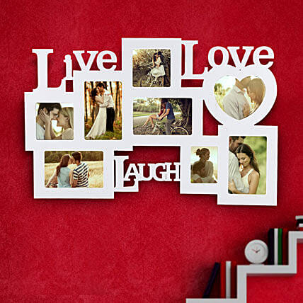 Live Laugh Love Frame Valentine: Personalised Photo Frames