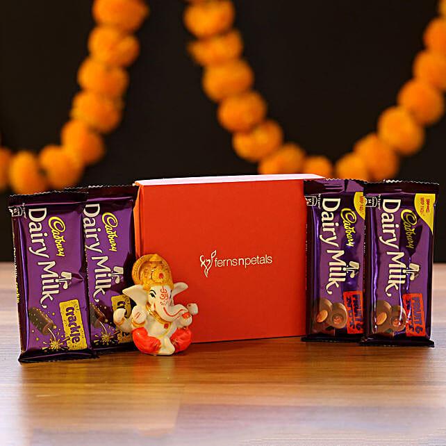 Lord Ganesha Idol & Chocolate Combo: