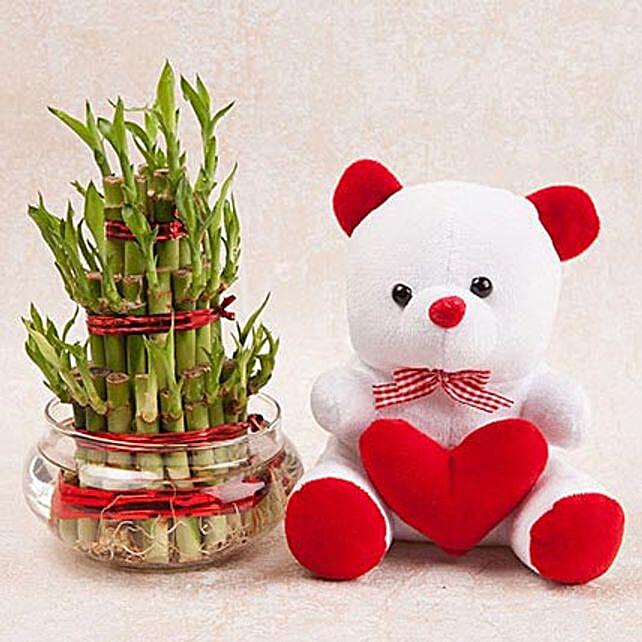Love N Luck Combo: Lucky Bamboo for Rakhi