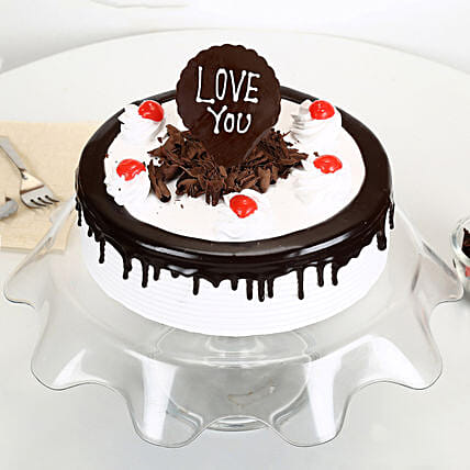 Love You Valentine Black Forest Cake: Cakes