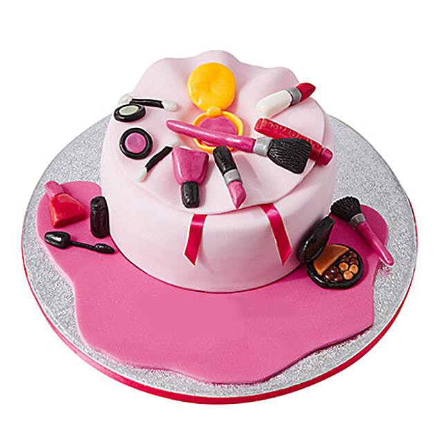 Make Up Bag Fondant Cake: Send Designer Cakes