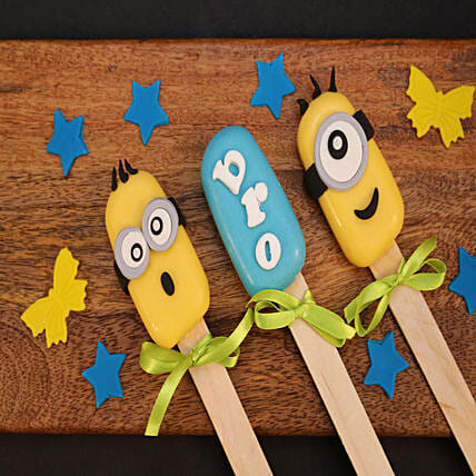 Minions Cakesicles For Bro-Set of 3: