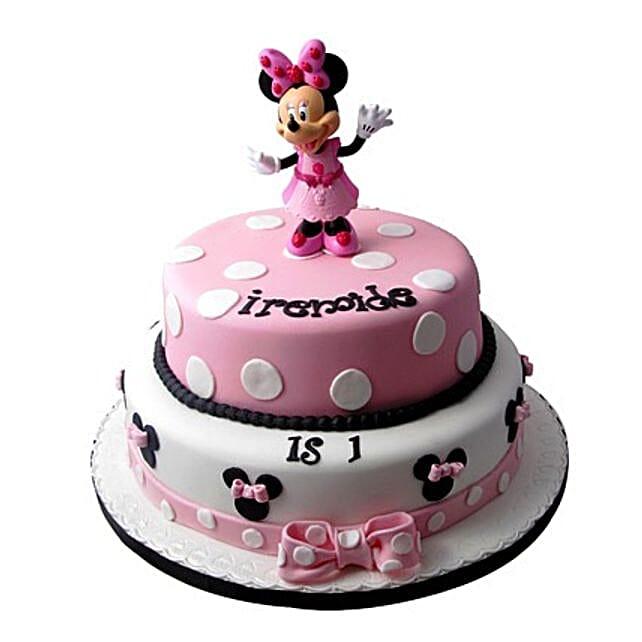 Minnie Mouse Birthday Cake Multi Tier Cakes