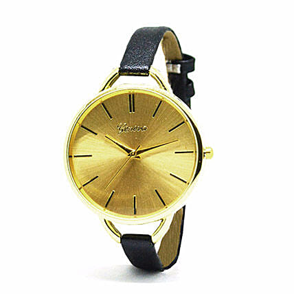 Narrow Black Strap Watch For Women: Buy Watches