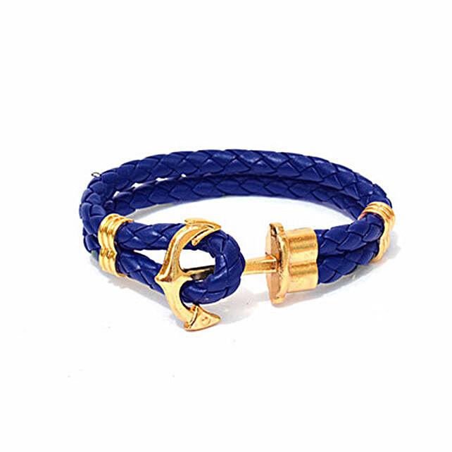 Navy Anchor Braided Bracelet: Friendship Day Bands