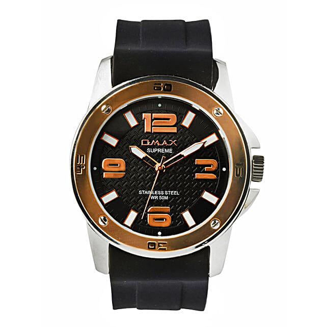 Omax Elegant Black Dial Mens Watch: Buy Watches