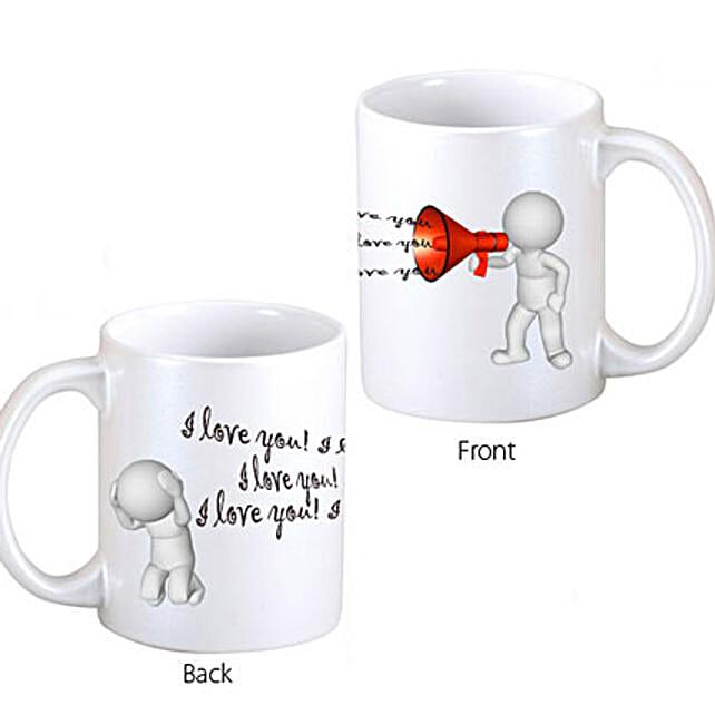 Out Loud Love Coffee Mug: Valentines Day Mugs