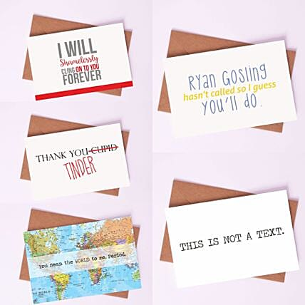 Pack of Quirky Love Cards: Greeting Cards