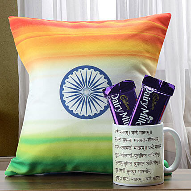 Perfect Indian Combo: Cushions and Mugs Combo