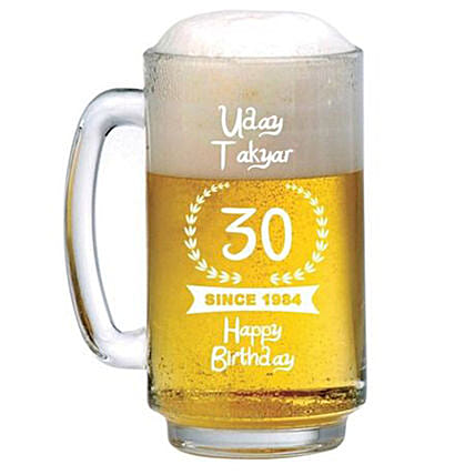 Personalised Beer Mug 1077: Personalised Glassware