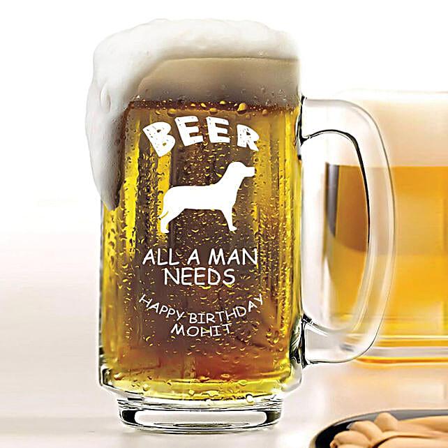 Personalised Beer Mug 1080: Personalised Beer Glasses