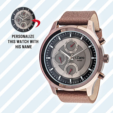 Personalised Black Watch For Him: Personalised Watches