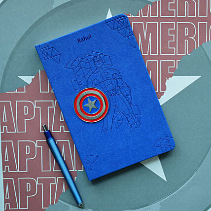 Personalised Captain America Notebook: Gifts to India