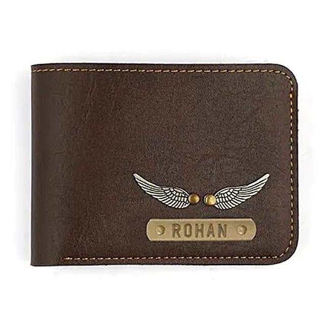 Personalised Dark Brown Mens Wallet: Accessories