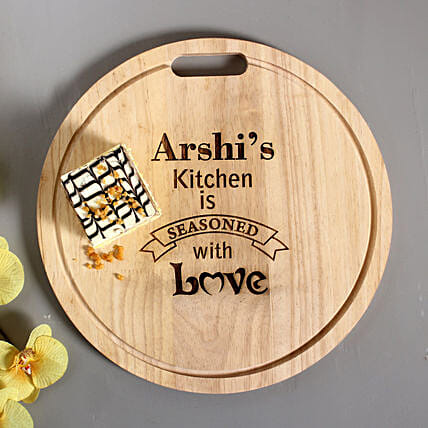 Personalised Engraved Quality Chopping Board: Personalized Diwali Gifts