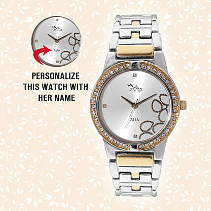 Personalised Glistening Watch For Her: