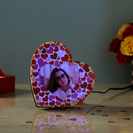 Personalised LED Heart Lamp: Heart Shaped Gifts for Valentines Day