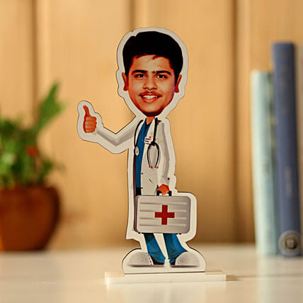 Personalised Male Doctor Caricature: Unusual Gifts
