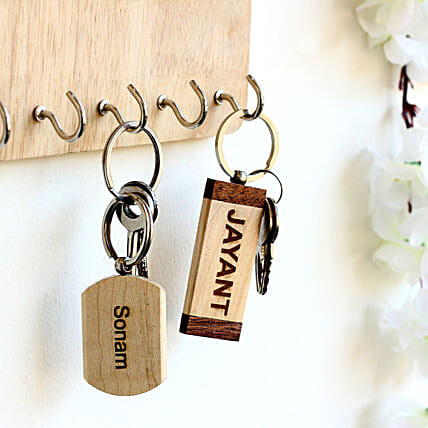 Personalised Name Key Chains Set of 2: