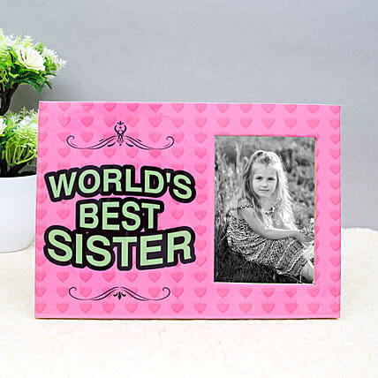 Personalised Photo Frame For Best Sister: Personalised Photo Frames