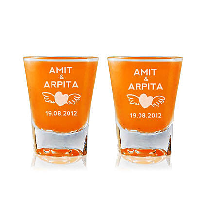Personalised Set Of 2 Shot Glasses 2304: