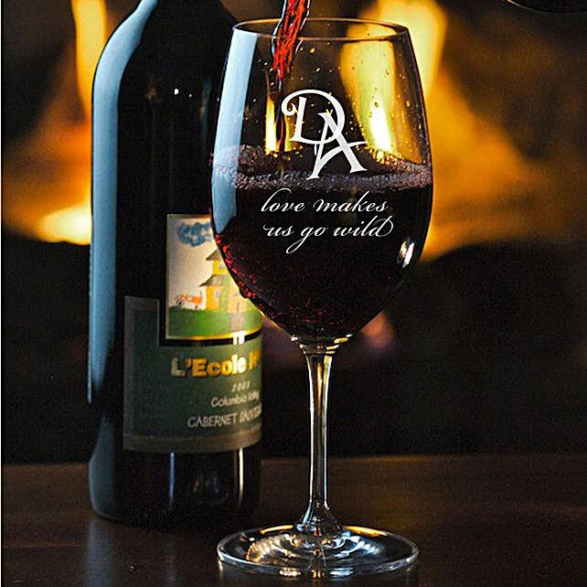 Personalised Set Of 2 Wine Glasses 1018: Personalised Wine glasses