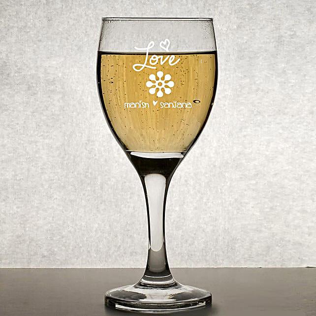 Personalised Set Of 2 Wine Glasses 1019: Personalised Glassware