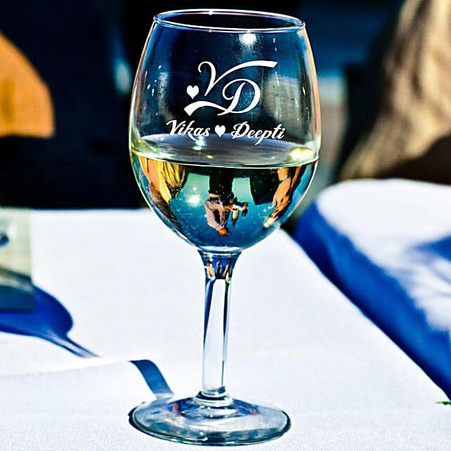 Personalised Set Of 2 Wine Glasses 1024: