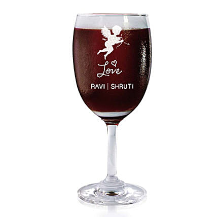 Personalised Set Of 2 Wine Glasses 2175: Bar Accessories