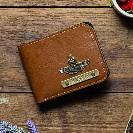 Personalised Tan Brown Mens Wallet: