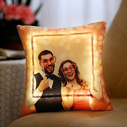 Personalised V-Day LED Cushion: Personalised Cushions for Valentine