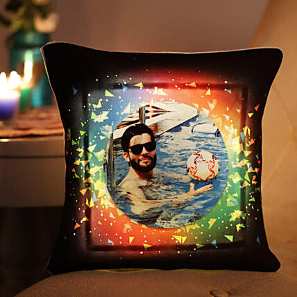 Personalised Vibrant LED Cushion: Anniversary Personalised Gifts