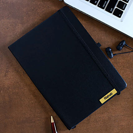 Personalized Black Notebook: Personalised Stationary