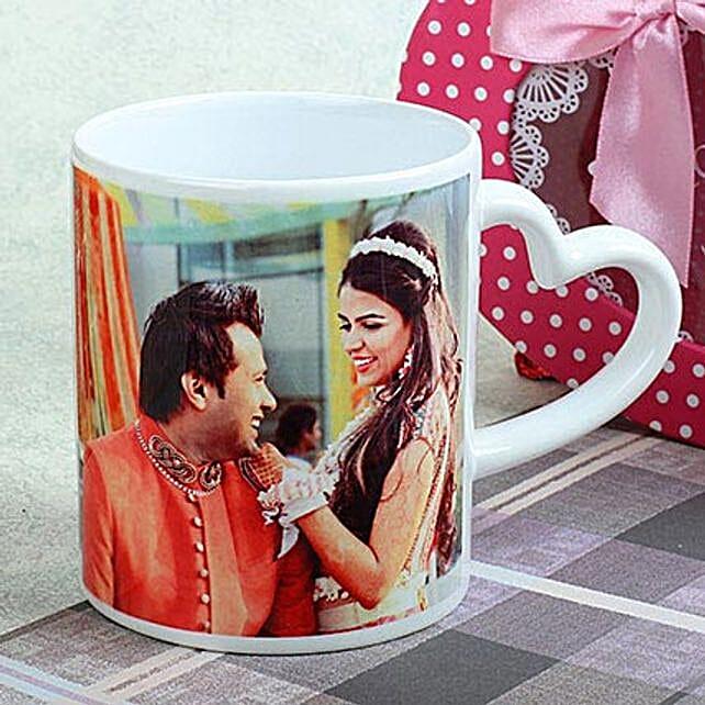 Personalized Heart Mug: Valentine Personalised Mugs