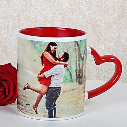 Personalized Red Ceramic Mug: Gifts for Hug Day