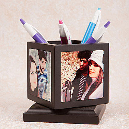 Personalized Rotating Pen Holder: 1St Anniversary Gifts