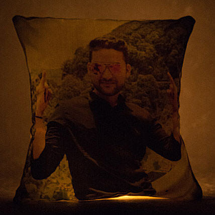 Personalized Yellow LED Light Cushion: Cushions
