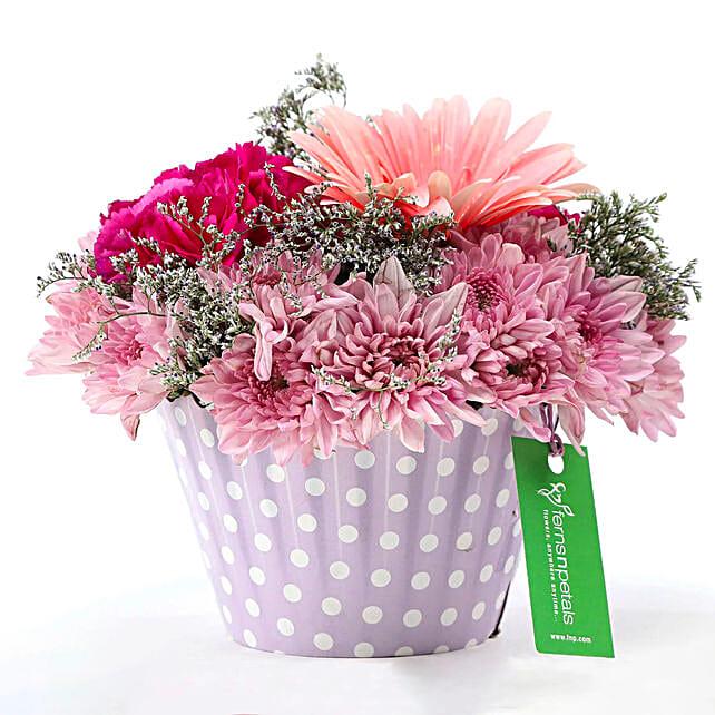 Pink & Purple Mix Flower Arrangement: Carnations