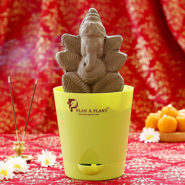 Plantable Lord Ganesh Clay Idol: Ganesh Chaturthi Gifts