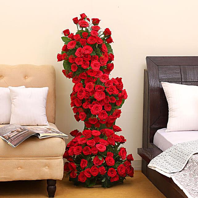 Premium 100 Red Roses Arrangement: Premium Gifts