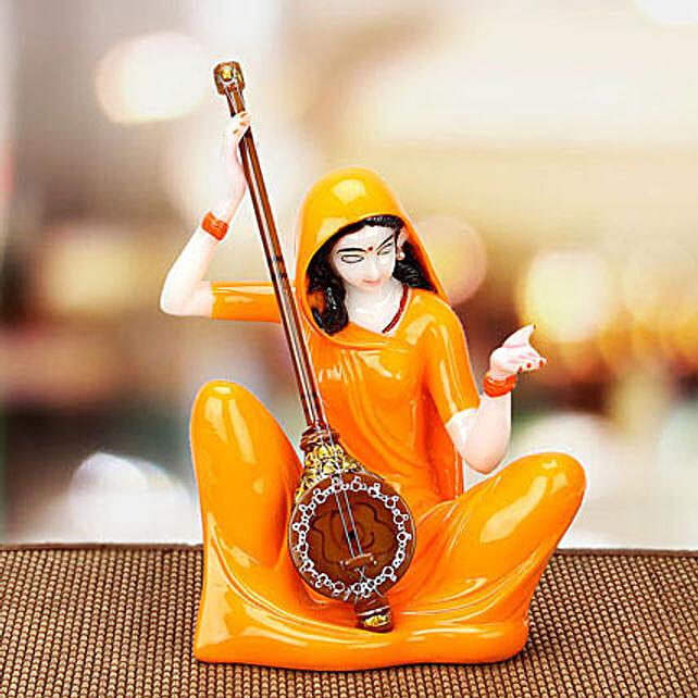 Premium Marble Mirabai Idol: Handicrafts