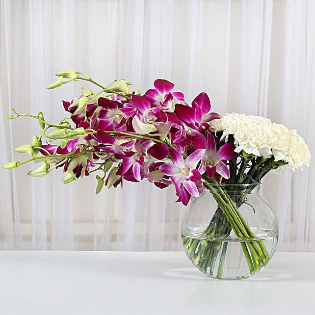 Pristine Grace: Mixed Colour Flowers