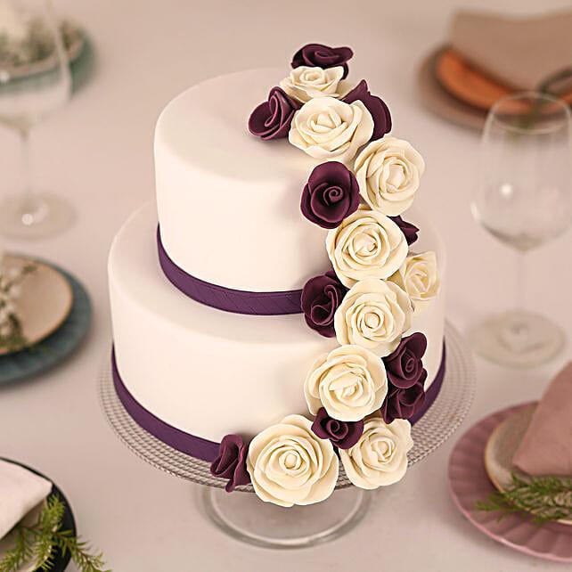 Purple Cascade: Multi Tier Cakes