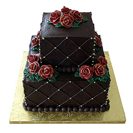 Rose N Truffle 2 Tier Cake: