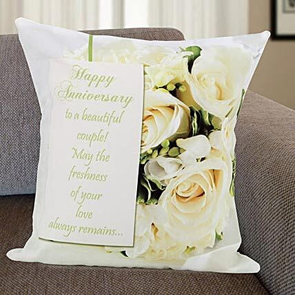 Rose Print Cushion: Send Personalised Gifts to Belgaum