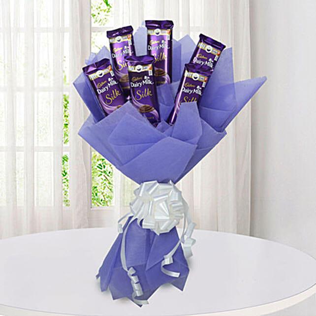 Silk Chocolate Bouquet: Return Gifts