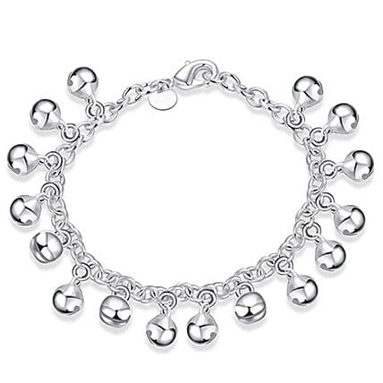Silver Plated Women Charm Bracelet: Friendship Day Bands
