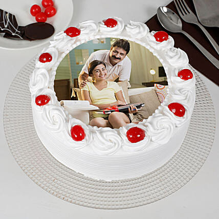 Specially For Dad Pineapple Cream Photo Cake: Photo Cakes