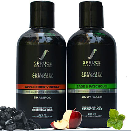 Spruce Shave Club Charcoal Bathing Essentials: Gift Hampers