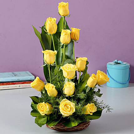 Sunshine Yellow Roses Bouquet: Yellow Flowers